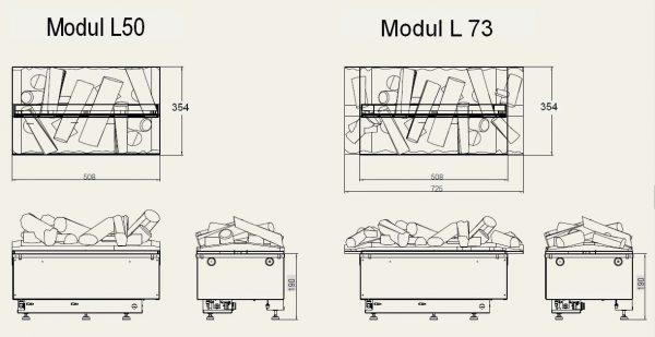Dimplex Cassette 500R log-set L73 mit Holzglutaufsatz