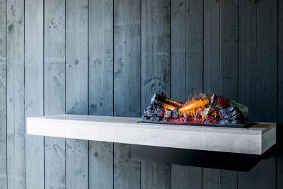 Dimplex Concrete Shelf Wandegal Opti-myst Elektrokamin