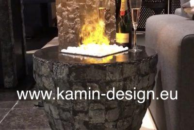 Firetable 3-250 Round - Feuertisch mit Elektrofeuer