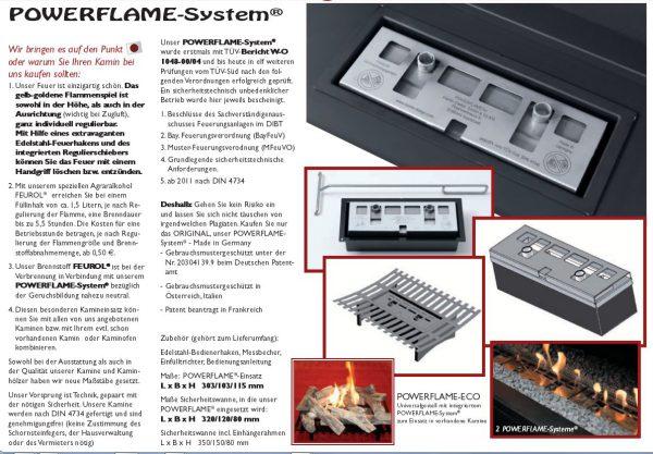 Infoblatt Powerflame-System